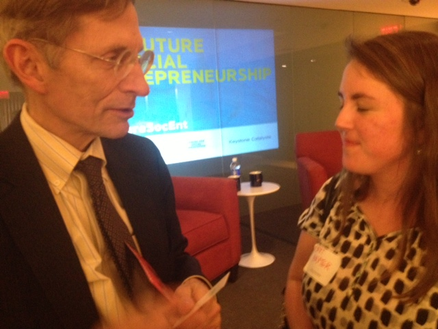 The OpEd Project's Courtney Baxter speaks with Ashoka founder Bill Drayton