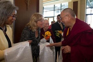 Diana with The Dalai Lama