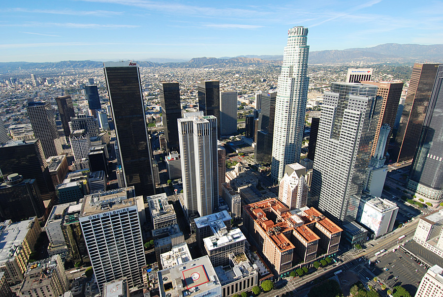 Downtown L.A., site of the Los Angeles public seminar this Sunday